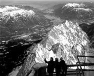 Garmisch from the Zugspitze, 1974